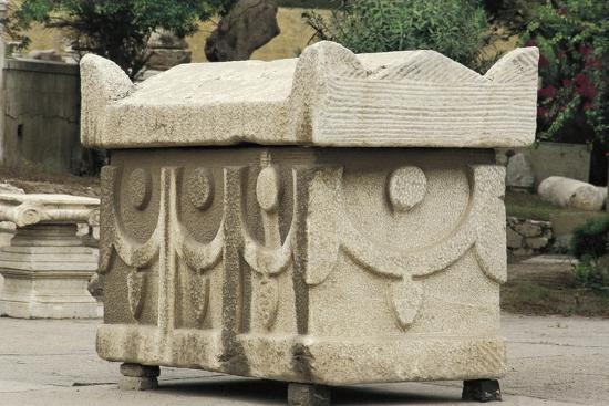 Egypt, Alexandria, Catacombs of Kom-Esh-Shuqafa, Sarcophagus--Giclee Print