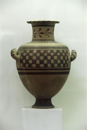 Egypt, Alexandria, Hydria with Geometrical Patterns, Baked Clay--Giclee Print