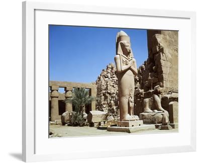 Egypt, Ancient Thebes, Luxor, Karnak, Temple of Amon, Court of Ramses II--Framed Giclee Print