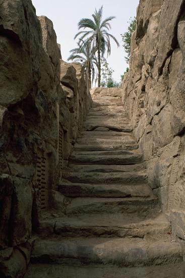 Egypt, Area around Aswan, Elephantine Island, Nilometer--Giclee Print