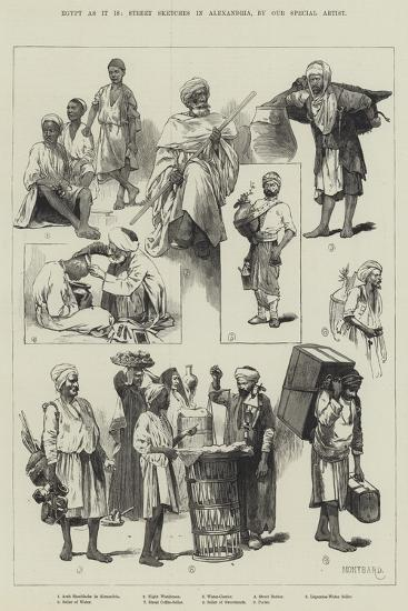 Egypt as it Is, Street Sketches in Alexandria-Charles Auguste Loye-Giclee Print