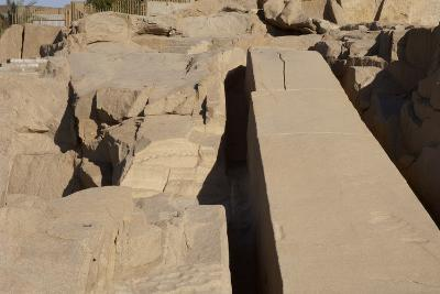 Egypt, Aswan, the Unfinished Obelisk--Photographic Print