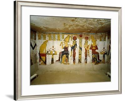 Egypt, Bahariya Oasis, Valley of the Golden Mummies, Tomb of Pa Nentwy--Framed Giclee Print