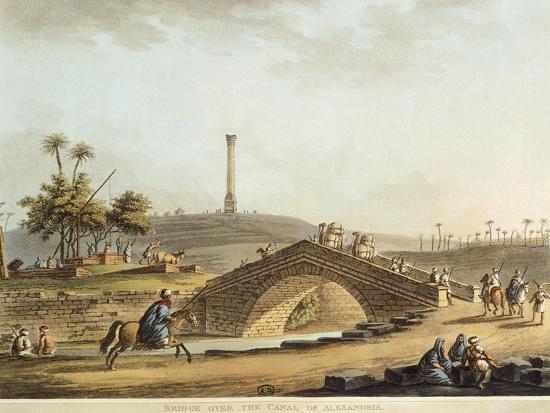 Egypt, Bridge over Alexandria Canal, 1804-Luigi Mayer-Giclee Print