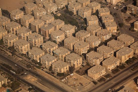 Egypt, Cairo, Aerial Shot, Apartment Blocks-Catharina Lux-Photographic Print