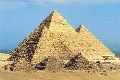 Egypt, Cairo, Ancient Memphis, Pyramids at Giza, Pyramid of Khafre--Giclee Print