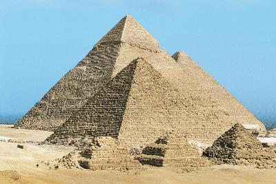 Egypt, Cairo, Ancient Memphis, Pyramids at Giza, Pyramid of Khafre--Giclee Print
