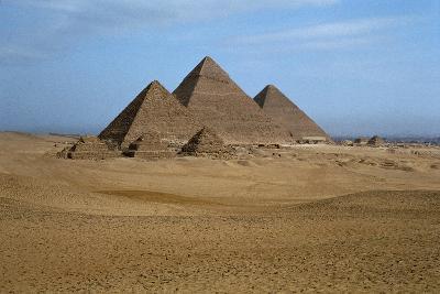 Egypt, Cairo, Ancient Memphis Pyramids at Giza. Pyramid of Khafre--Giclee Print