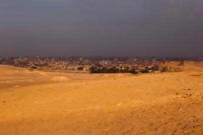 Egypt, Cairo, Giza, Desert, Evening Light-Catharina Lux-Photographic Print