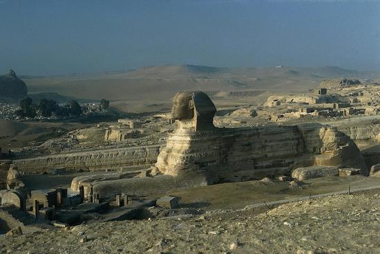 Egypt, Cairo, Giza, Great Sphinx--Giclee Print