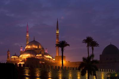 Egypt, Cairo, Landmark, Citadel with Mohamad Ali Mosque, Dusk-Catharina Lux-Photographic Print