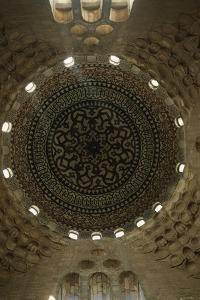 Egypt, Cairo, Mosque Interior with Dome Ceiling