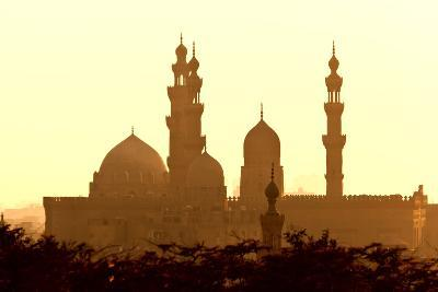 Egypt, Cairo, Mosque-Madrassa of Sultan Hassan in Backlight-Catharina Lux-Photographic Print