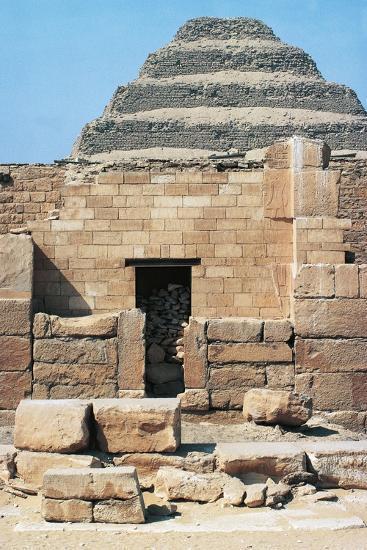 Egypt, Cairo, Saqqara Necropolis Funerary Monument to King Zoser, 'Step Pyramid', Entrance--Giclee Print