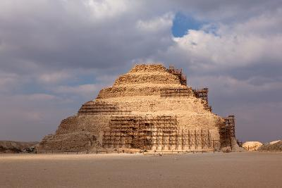 Egypt, Cairo, Saqqara, Step Pyramid of Djoser, the Oldest Stone Structure of the World-Catharina Lux-Photographic Print
