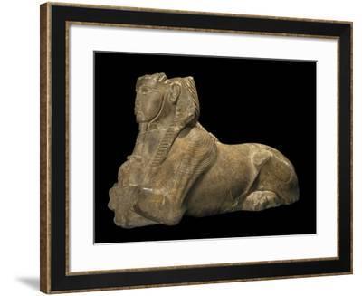 Egypt, Calcite Sphinx Making Offerings, Temple of Amun at Karnak--Framed Giclee Print