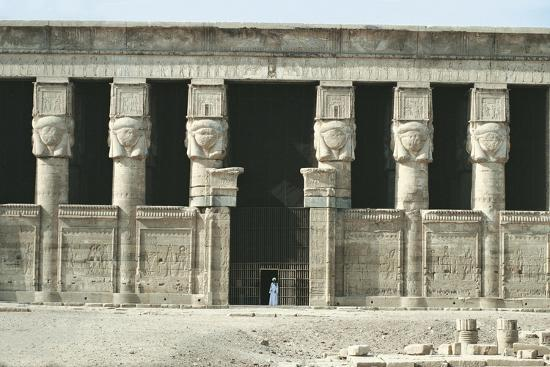 Egypt, Dendera, Temple of Hathor--Giclee Print