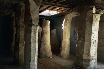 Egypt, El-Moa'Alla, Tomb of Ankhtifi Interior--Giclee Print