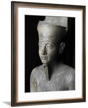 Egypt, Limestone Statue of God Amon of Karnak--Framed Giclee Print