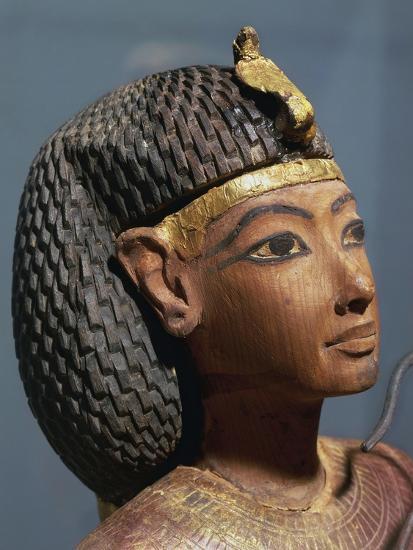 Egypt, Luxor, Ancient Egypt Museum, Gilded Wood Ushabti Figure, Close-Up--Giclee Print