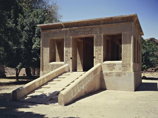 Egypt, Luxor Governorate, Karnak Senusret I Cloister--Giclee Print