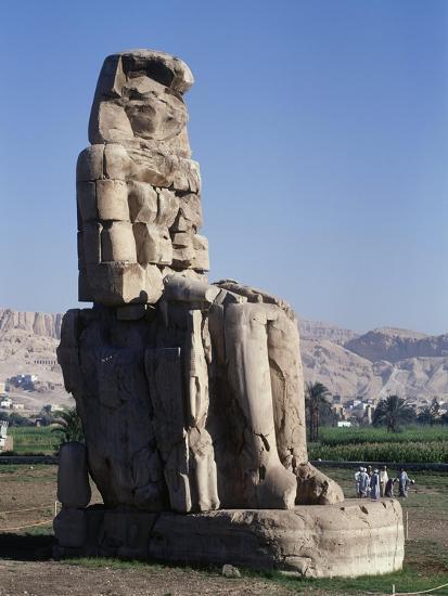 Egypt, Luxor Governorate, Karnak, Statue of Amenhotep III--Giclee Print