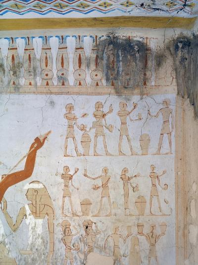 Egypt, Luxor, Tomb of Royal Cupbearer Suemnut, Mural Paintings, Votive Offerings--Giclee Print