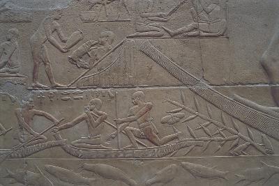 Egypt, Memphis, Saqquara Necropolis, Mastaba of Kagemni, Painted Relief--Giclee Print