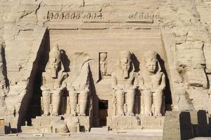 Egypt, Nubia, Abu Simbel, Great Temple, Colossal Sandstone Figures of Enthroned Ramses II