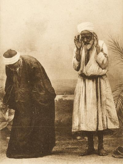 Egypt - Old Egyptian Men at Prayer--Photographic Print