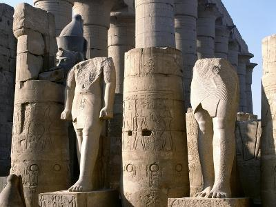 Egypt, Old Thebes, Luxor, Karnak Temple Complex, Precinct of Amun-Re, Court of Ramses II--Giclee Print