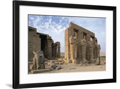 Egypt, Old Thebes, Theban Necropolis, Ramesseum, Mortuary Temple of Pharaoh Ramesses II--Framed Giclee Print