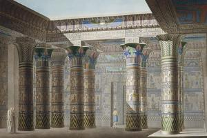 Egypt, Philae, Great Temple, Reproduction of Portico