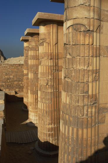 Egypt. Saqqara, Djoser Pyramid, Entrance with Fasciculate Columns--Photographic Print