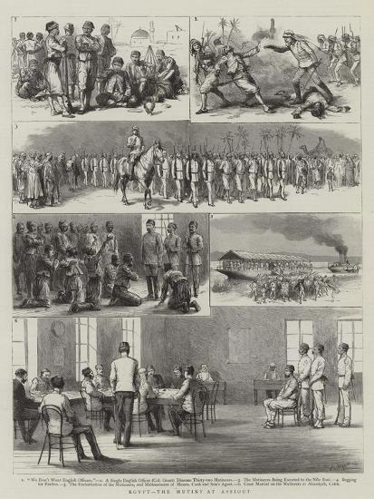Egypt, the Mutiny at Assiout-Godefroy Durand-Giclee Print