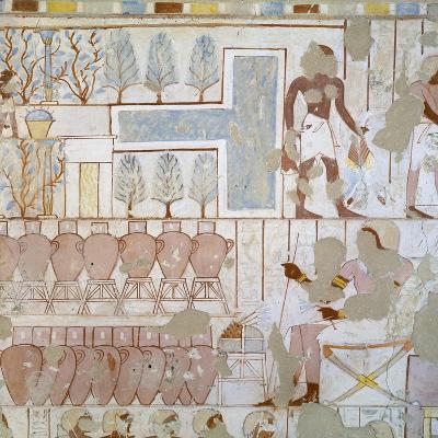 Egypt, Thebes, Luxor, Sheikh 'Abd Al-Qurna, Tomb of City Police Captain Nebamun, Mural Paintings--Giclee Print