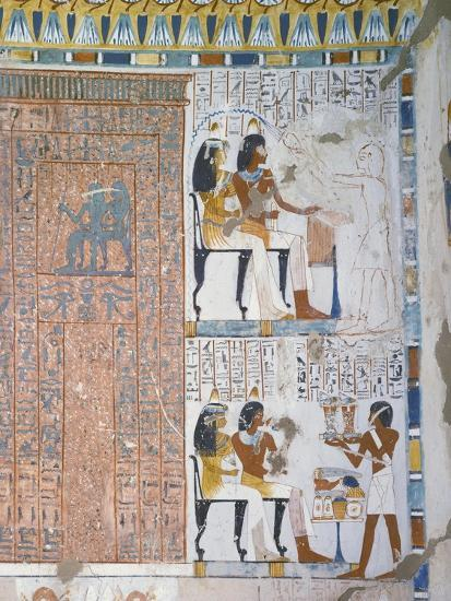Egypt, Thebes, Luxor, Sheikh 'Abd Al-Qurna, Tomb of Huy and Kener--Giclee Print