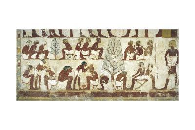 Egypt, Thebes, Luxor, Sheikh 'Abd Al-Qurna, Tomb of Royal Scribe Userhat, Vestibule--Giclee Print