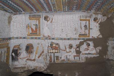 Egypt, Thebes, Luxor, Sheikh 'Abd El-Qurna, Tomb of Amenwahsu Detail--Giclee Print