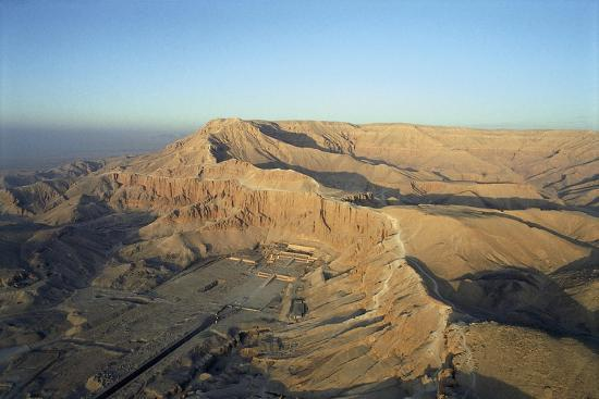 Egypt, Thebes, Luxor, Valley of Kings, Deir El-Bahri, Mortuary Temple of Hatshepsut, New Kingdom--Giclee Print