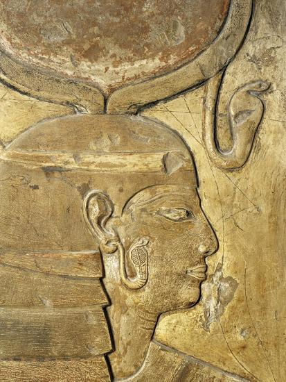 Egypt, Thebes, Luxor, Valley of the Kings, Close-Up of Relief in Corridor Representing Isis--Giclee Print
