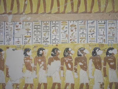 Egypt, Thebes, Luxor, Valley of the Kings, Mural Painting in Tomb of Ramses IV--Giclee Print