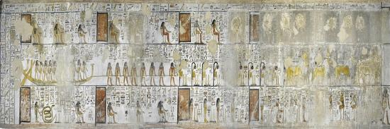 Egypt, Thebes, Luxor, Valley of the Kings, Mural Paintings, Side Chamber, Tomb of Seti I--Giclee Print