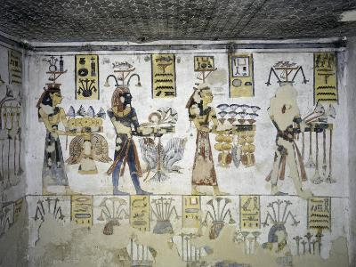 Egypt, Thebes, Luxor, Valley of the Kings, Tomb of Ramses III, Mural Painting of Ritual Offerings--Giclee Print