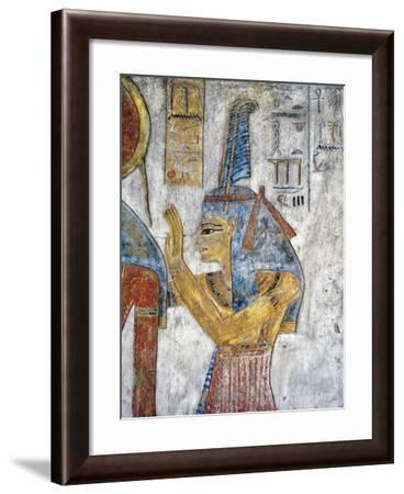 Egypt, Thebes, Luxor, Valley of the Kings, Tomb of Tausert, Mural Painting of Goddess Ma'At--Framed Giclee Print