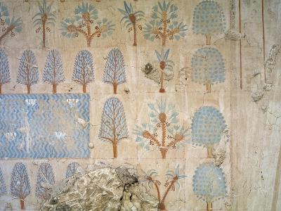 Egypt, Tomb of Army Commander Amenemheb Meh, Mural Painting Representing Garden--Giclee Print