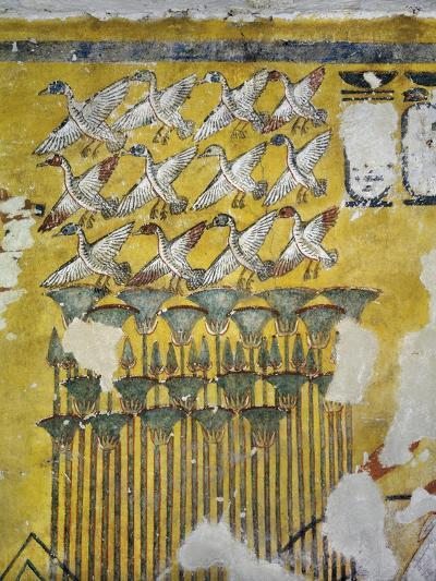 Egypt, Tomb of Ay, Burial Chamber, Eastern Wall, Mural Paintings, Hunting Scene--Giclee Print