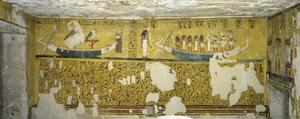 Egypt, Tomb of Ay, Burial Chamber, Western Wall, Mural Paintings, Illustrated Amduat