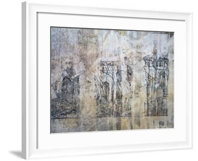 Egypt, Tomb of City Governor and Vizier Ramose, Hypostyle Hall, Unfinished Mural Paintings--Framed Giclee Print