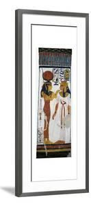 Egypt, Tomb of Nefertari, Mural Painting of Hathor and Queen in Burial Chamber from 19th Dynasty